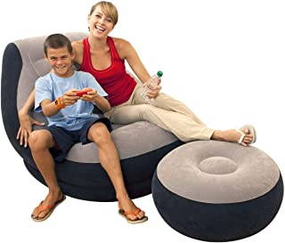 Intex Inflatable Lounge Chair with Ottoman Electric Inflatable Pump