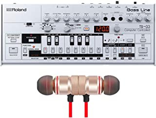 Roland TB-03 Boutique Bass Line Synthesizer includes Free Wireless Earbuds - Stereo Bluetooth In-ear Earphones