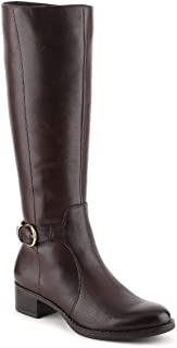 Franco Sarto Womens Cecily Leather Closed Toe Over Knee, OXBrown, Size 9.0
