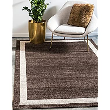 Unique Loom Del Mar Collection Contemporary Transitional Brown Area Rug (8' x 11')