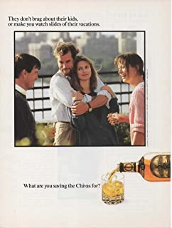 Magazine Print Ad: 1988 Chivas Regal 12 year old Blended Scotch Whisky,