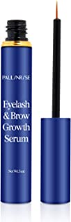 PAULINRISE Natural Eyelash Growth Serum and Brow Enhancer to Grow Thicker, Longer Lashes for Long, Luscious Lashes and Eye...