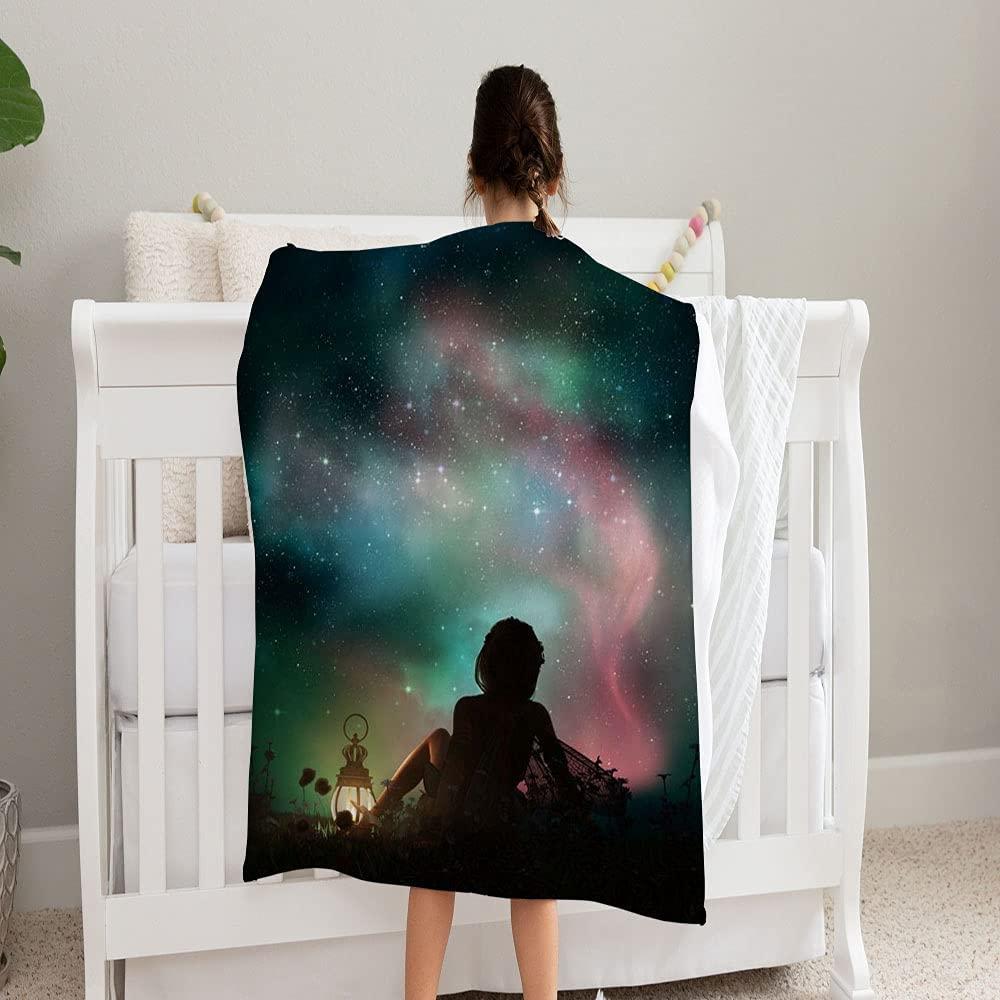 GANTEE Computer Graphics Fantasy Scene Year-end annual account Max 40% OFF Super Blanket Girl Soft