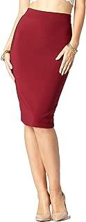 Conceited Premium Stretch de la Mujer lápiz Falda-Cintura Alta-10Colores-por Arrogante