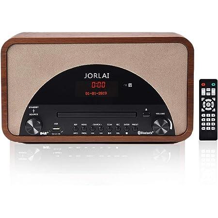 Radio Mit Cd Player Jorlai Musikanlage Mit Bluetooth Dab Dab Plus Digital Radio Stereoanlage Mit Lc Display Kompaktanlage Usb Aux In Kopfhörer Und Fernbedienung Audio Hifi