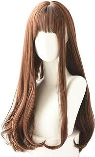 شعر مستعار Elegdy Lolita مع شعر مستعار طويل مفرود ومموج متدرج اللون للنساء أزياء تنكرية (اللون: 8 33A، طول ممتد : 26 بوصة)