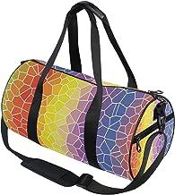 DEZIRO Kleurrijke Geometrische Patroon Sport Duffle Bag Drum Sporttas