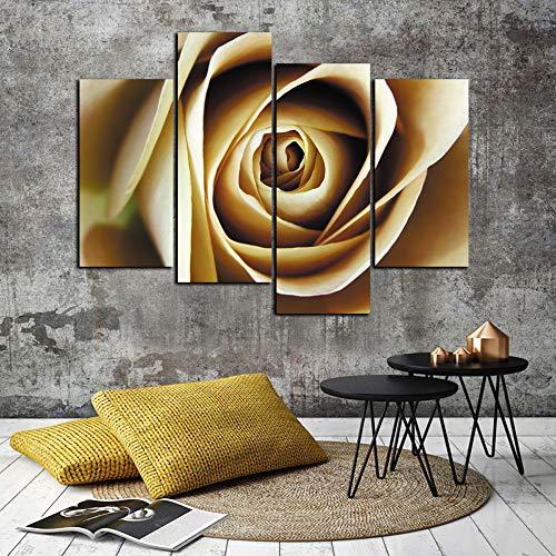 WSNDGWS Pintura para decoración de Sala de Estar, Flor de Cuatro Piezas, Naturaleza Muerta, Pintura de Lienzo, Sin Marco A2 30x60cmx2 30x80cmx2
