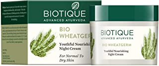 Biotique Bio WheatGerm Youthful Nourshing Night Cream for Normal to Dry Skin, 50g