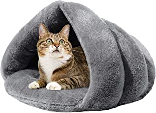 Mumoo Bear Pet Bed Soft Warm Cat Bed for Winter Cat Tent, Grey
