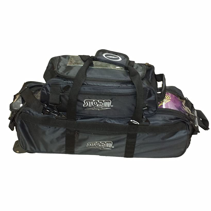 Storm Tournament 3 Ball Tote Roller Bowling Bag- Black