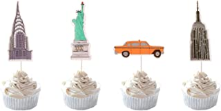 Party Hive 24pc New York City [NYC] Cupcake Toppers for Birthday Party Event Decor