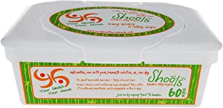 YHYH - ALL NEW, THICKER! All Natural! Multi-Purpose Dry Bamboo Wipes, 60 count, 6