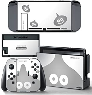 Ci-Yu-Online VINYL SKIN [NS] Dragon Quest Silver Slime STICKER DECAL COVER for Nintendo Switch Console and Joy-Con Controllers