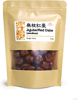 NEW PACKAGING Red Date Jujube Hongzao Seedless ???? Dried Fruits 4 Oz