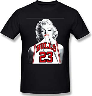Men's New Way 193 - Unisex T-Shirt Marilyn Monroe Bulls 23 Jordan Jersey Cozy T-Shirts Black 5XL