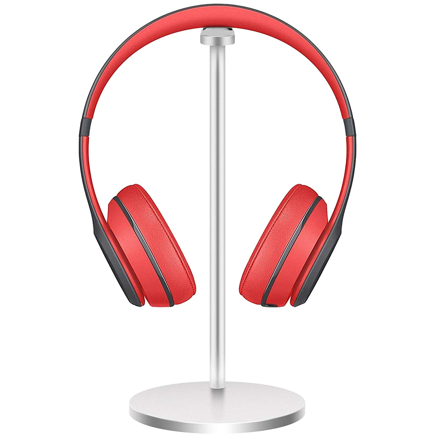 Aluminum Headphone Stand Headset Holder New Bee Headset Stand/Hanger for All Headphone Sizes (Silver)