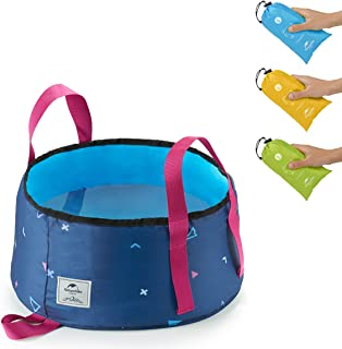Naturehike Collapsible Water Bucket - Food-Grade Compact Folding Wash Basin - 0.25lbs Ultralight 15/18L Large Size with Carrying Bag for Indoor Outdoor Cooking Picnic Camping Hiking Fishing Traveling