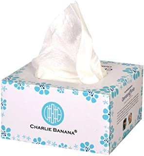 Charlie Banana Baby Disposable Cloth Diaper Liners and Baby Wipes, Unscented, 100-Pack