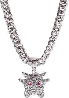 Xikui Cuban Link Chain, 18K Gold Plated Jewelry Men/Women Titanium Steel Necklace Hip Hop Diamond Chain Chunky Chain Width...