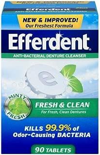 Efferdent Plus Anti-Bacterial Denture Cleanser, Minty Fresh, 78 Count