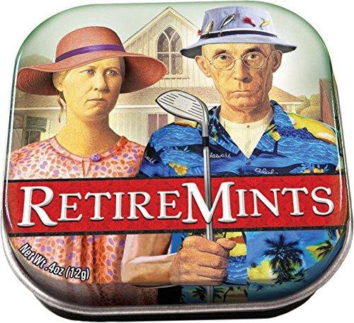 The Unemployed Philosophers Guild RetireMints Mints - 1 Small Tin 1.75 x 1.75