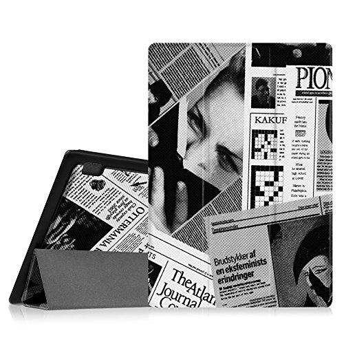 Fintie Hülle für Lenovo A10-70, Folio Case Tasche Etui mit Auto Schlaf/Wach Funktion für Lenovo IdeaTab A10-70 25,7 cm (10,1 Zoll HD-IPS) Tablet, Zeitung