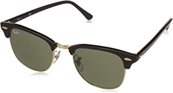 Ray Ban Clubmaster Ebony Arista Men's Sunglasses