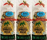 Oasis Veggie Bread, 3 Pack- Low Carb, Keto, All Natural, Sprouted