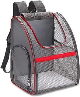 Genomskinlig transportryggsäck för husdjur av nät.