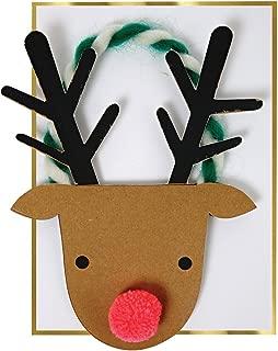 Meri Meri トナカイの頭のクリスマスカード