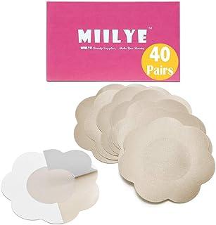 Pasties Nipple Covers 40 Pairs MIILYE Disposable Adhesive Breast Petal for Women