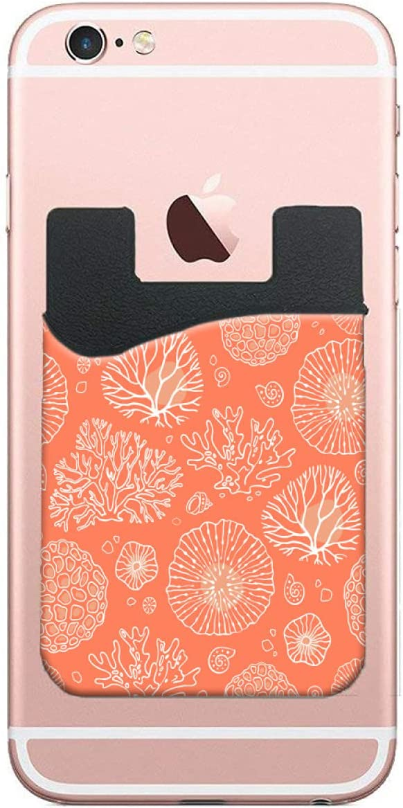 ZXZNC Card sale Holder Sale price For Back Of Phone Colorful Co Marine Beautiful