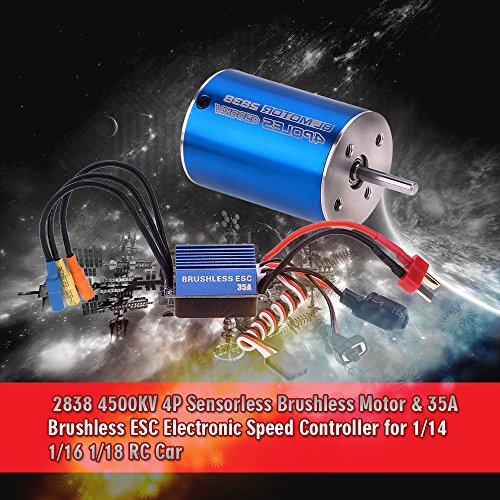 GoolRC 2838 4500KV 4P sensorlose bürstenlose Motor & 35A Brushless Regler elektronische Speed Controller für 1 14 1 16 1 18 RC Auto