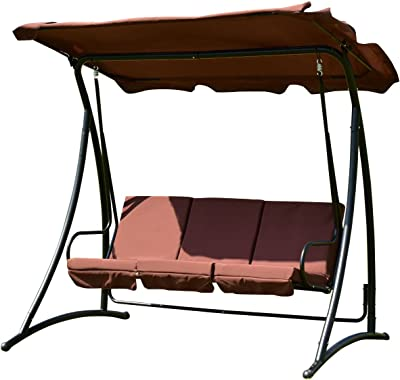 Amazon Com Sunlife Porch Swing Patio Hanging Chaise