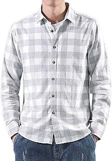 Camisas a Cuadros para Hombre, Blusa de Manga Larga, Blusas con Estilo Casual, Camisa de Leñador con Botones