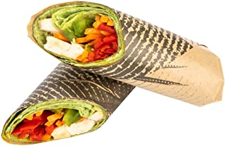 """Greaseproof Paper Food Wrap, Basket Liner, Sandwich Wrap, Deli Paper - Mexican Agave - 12"""" x 12"""" - 500ct Box - Restaurantware"""