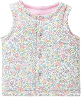 Anxinke Infants Boys Girls Graphic Printed Buttons Cotton Waistcoat