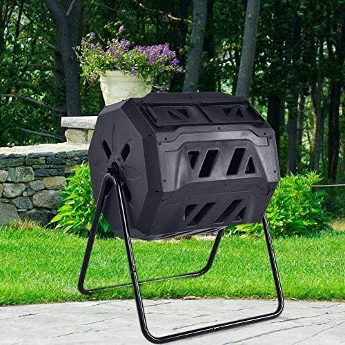 ZHANGYY Tumbling Compost Bin, Large Compost Tumbler Bin, Outdoor Garden...
