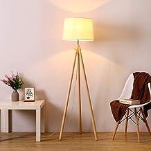KANJJ-YU Floor Lamp, Creative Tripod Vertical Table Lamp Floor Lamp Living Room Sofa Bedroom Solid Wood Study Simple Solid...