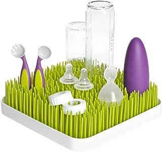 Escurridor para secado de biberones Lawn Tendedero para con diseño de césped tamaño grande (Verde)
