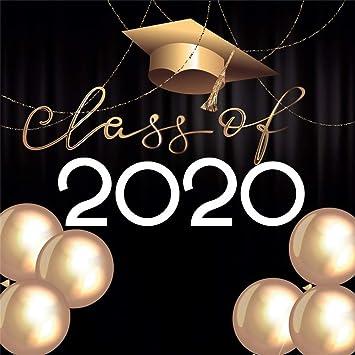 Leowefowa 6.5x6.5ft Class of 2020 Graduation Party Backdrop for ...