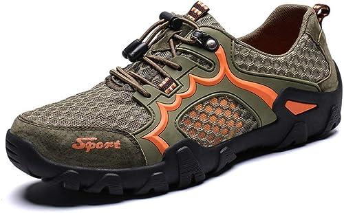 LiXiZhong Herren Sandalen Atmungsaktive Sandalen Outdoor Freizeitschuhe Atmungsaktive Wanderschuhe Bequeme Sandalen Fischerschuhe (Farbe   Grün, Größe   47)