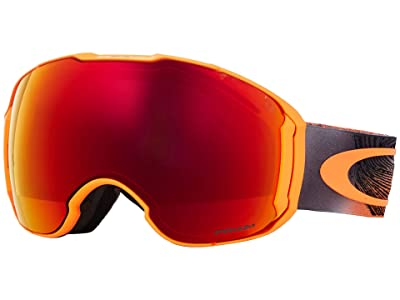 Oakley Airbrake XL (Mystic Flow Neon Orange w/ Prizm Torch Iridium/Prizm Black Iridi) Goggles