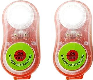 Riastvy Luzes estroboscópicas de segurança marítima portáteis, luzes de LED para barcos, caiaque, longo tempo de espera, a...