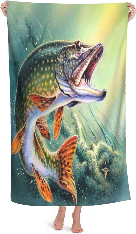 Oversized Microfiber Ultra Fees free!! Soft Bath Brand new Fish Towel Dry Blanket Fast