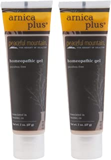 Peaceful Mountain Naturals Arnica Plus Gel (Pack of 2) with Whey Protein, Aloe Vera, White Willow Bark, Witch Hazel, Devil...