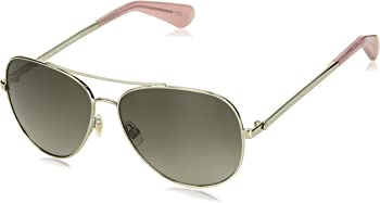 Kate Spade Women's Polarized Aviator Sunglasses