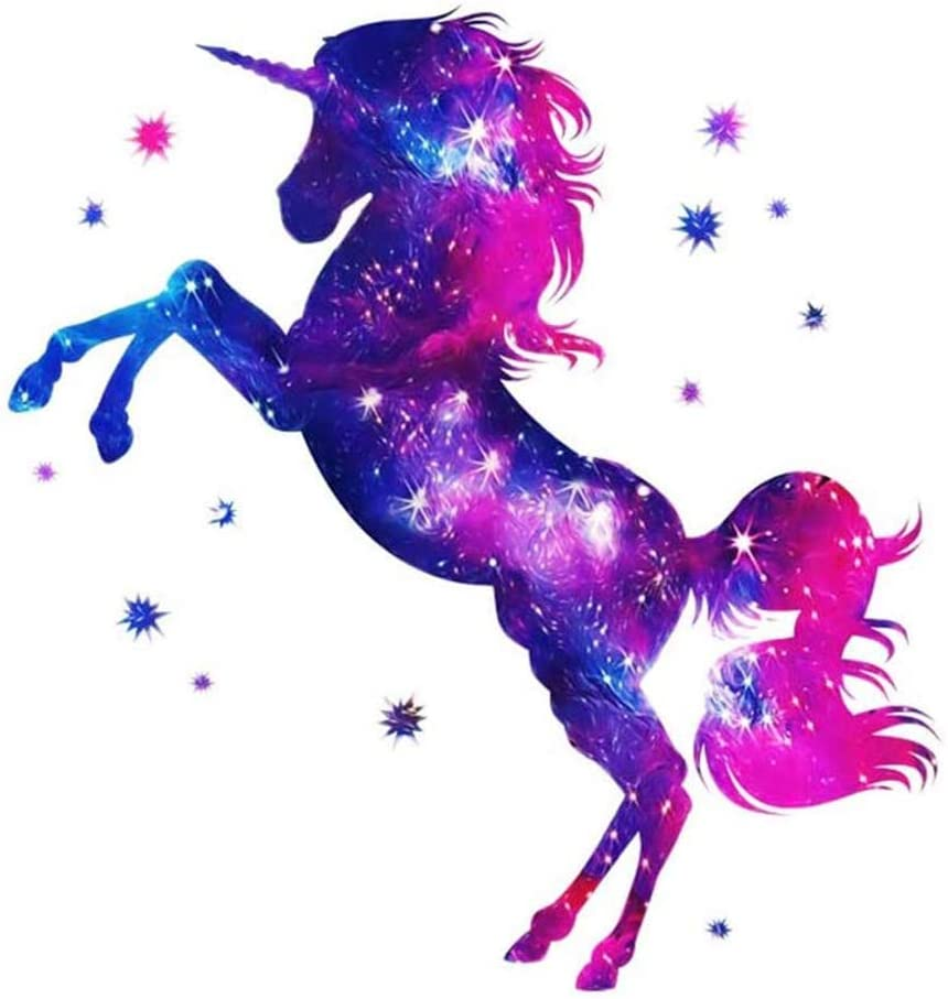 ESH7 Colorful Horse Unicorn Iron-on Patches Patch Our shop OFFers the best Low price service Heat Transfer