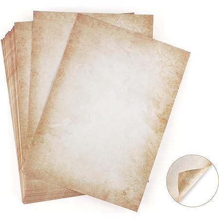 100 feuilles de papier d'écriture avec motif vieux papier DIN A4 120 g/m² Absofine Impression Offset